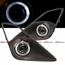White LED DRL Halo Angel Eyes Projector Fog Lights Lamps Kit Fits FRS BRZ