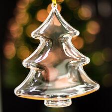x20 Transparent Grand Sapin De Noël En forme Décorations Vide à remplir Boule