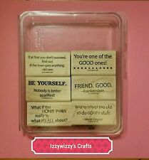Stampin Up SMARTY PANTS goofy friend hokey pokey humerous sentiments (1601)