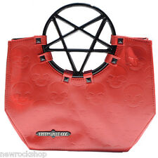 New KREEPSVILLE 666 Pentagram Handle Purse Bag Red