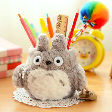 Mi vecino Totoro peluche adorable Anime Cartoon Pencil vase Brush Pen Holder