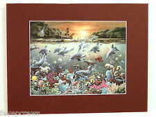 DOLPHIN FISH  PICTURE TROPICAL FISH AQUATIC SEA LIFE MATTED PRINT 11X14