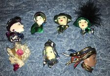 Lot Of Vintage Plastic Face Brooches~ Pin ~7