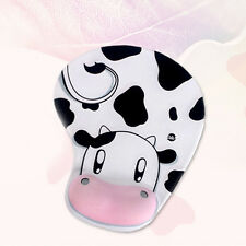 Thin Wrist Mouse Pad Memory Foam Cow Shaped Mousepad Mice Black Gaming Computer