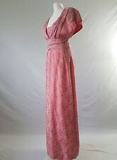 VINTAGE 40s/50s Dress BallGown Downton Silk 20s/30s Gatsby Wedding Original Uk12