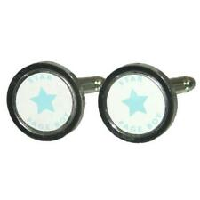 White & Blue Star Cufflinks With Gift Pouch Converse 5 Pointed Stars Present