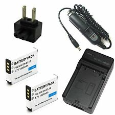 Charger + 2x Battery for Nikon Coolpix S31 S70 S610c S610 S620 S630 S640 S710