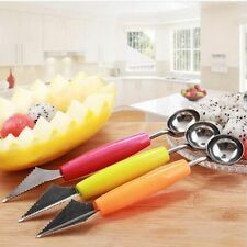 Tool Melon 2 In 1 Ice Cream Scoop Spoon Carving Fruit