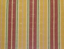 """MOIRE STRIPE YELLOW MAUVE GREEN SHIMMER DESIGNER FABRIC BY THE YARD 55""""W"""