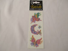 Fun Tattoos Assorted Fairy Designs Including Crescent Moon New