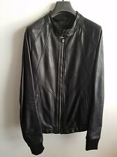 NEW Rick Owens Intarsia Calf Leather Jacket Sz 50