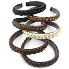 Black Brown Blonde PLAITED ALICE Headband HAIR BAND