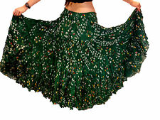 Bottle Green Polka Dot 25 yard gypsy skirt cotton belly dance tribal costume