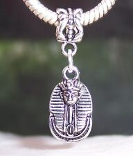 Tutankhamun Mask Egyptian Pharaoh Egypt Dangle Bead for European Charm Bracelets
