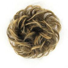 chouchou peruk cheveux châtain méché doré ref: 17 en 6t24b