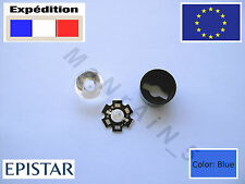 3W Epistar Blue Blau Bleu Azul LED +Heatsink+5°lens for graflex luxeon lighsaber