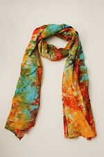 NEW HANDMADE EXTRA LONG MULTI COLOUR TIE DYE SCARF SARONG FREE POST / SCL200PN