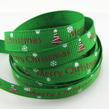 Free Shipping 5 Yards 3/8''10mm Merry Christmas Grosgrain Ribbon R20
