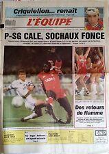 L'Equipe Journal 13/4/1989; Criquielion renait/ PSG, Sochaux/ Ray Sugar Robinson