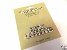 TONEPROS TP6R-G TUNEOMATIC BRIDGE WITH ROLLER SADDLES IN GOLD GIBSON BIGSBY
