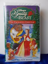 Beauty and the Beast An Enchanted Christmas VHS Tape Clamshell Disney 72 minutes