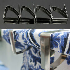 4x Stainless Steel Tablecloth Table Cover Clips Holder Clamps Self Adjusting TUK