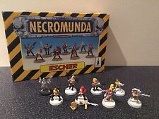 Warhammer Citadel Rare OOP 40K Necromunda House Escher Gang of 8 Models Boxed