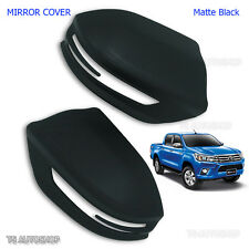 Black Side Mirror Indicator Signal Cover for Toyota Hilux Revo Sr5 M70 2016 2017