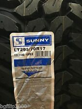 1 NEW LT295/70R17 SUNNY SN105 MUD TIRES 295 70 17 LRE 10 PLY MT
