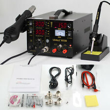 Yihua 853D 3in1 DC Power Supply SMD Soldering Rework Station Hot Air Gun 110V
