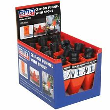 Sealey Clip-On Oil/Coolant/Diesel/Detergent Funnel With Spout - Box of 12 - F12