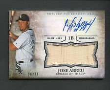 2015 Topps Triple Threads Jose Abreu Auto RC Sepia Jumbo Bat Relic /75 White Sox