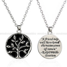 Proverb A Friend May Well Be Reckoned The Masterpiece Of Nature Pendant Necklace