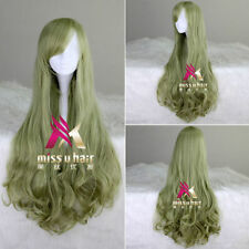 VOCALOID magnet LUKA Long Wavy Green Wig Megurine Luka Cosplay Party Wig Hair
