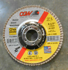 CGW 4 1/2 in (OD) Regular 29 Conical ZA Flap Disc, 80 (Fine), 5/8-11lack (EC3-2)