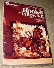 "NIP Vintage Vogart Crafts Hook-it Latch Hook Pillow Kit Butterfly Size 12"" x 12"""