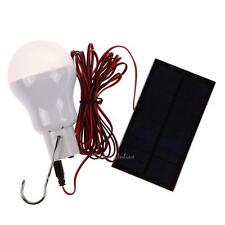 Portable Solar Power LED Bulb Lanterns Tent Camping Fishing Outdoor Light Lamp