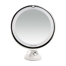 LED Makeup Mirror 10X Magnifying Lighted Cosmetic Mirror with Suction Base