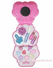 Princess Pink Purple Heart Kids Girl Makeup Cosmetics Eyeshadow Nail Polish Box