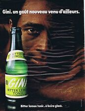 PUBLICITE ADVERTISING 114 1971 GINI bitter lemon tonic
