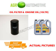 DIESEL OIL FILTER + LL 5W30 ENGINE OIL FOR KIA CARNIVAL 2.9 185 BHP 2006-