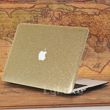 Leather Bling Shiny Artificial Crystal Hard Case Cover for MacBook Air Pro 11 13