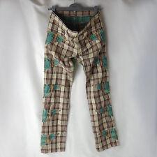COMME des GARCONS HOMME PLUS_Beige x Green Check Patchwork Pants_2014 S/S_sizeXS