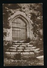 Somerset WESTON-SUPER-MARE Woodspring Priory door 1914 RP PPC