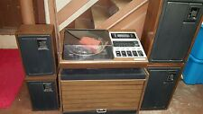 ZENITH ALLEGRO antique stereo and stand with speakers 8track/record player/am-fm