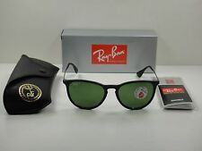 RAY-BAN ERIKA POLARIZED SUNGLASSES RB4171 601/2P BLACK FRAME/GREEN LENS 54MM