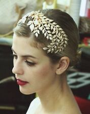 Vintage 20's Gold Leaf Headdress Headband Roman Hair Crown Grecian Flapper