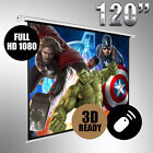 """NEW 120"""" Electric Motorised Projector Screen Home Theatre HD TV Projection"""
