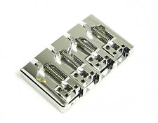 Hipshot A Style 4 String Bass Bridge Aluminum, Chrome, Retrofits 5 Hole Fender