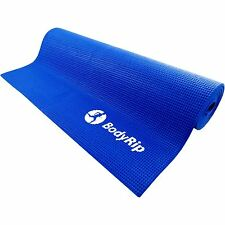 BodyRip BLUE THICK FOAM YOGA PILATES GYM MAT 6mm FITNESS GYM EXERCISE TRAINING